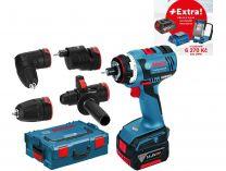 Bosch GSR 18 V-EC FC2 SET Professional - 2x 18V/5.0Ah + extra 1x Aku + GLI VariLED + GAA 18V-24
