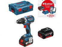 Bosch GSR 18 V-EC Professional - 2x 18V/5.0Ah + extra 1x Aku + GLI VariLED + GAA 18V-24 + L-Boxx