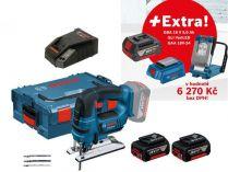 Bosch GST 18 V-LI B Professional - 2x 18V/5.0Ah + extra 1x Aku + GLI VariLED + GAA 18V-24 + L-Boxx