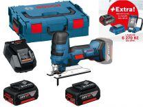 Bosch GST 18 V-LI S Professional - 2x 18V/5.0Ah + extra 1x Aku + GLI VariLED + GAA 18V-24 + L-Boxx