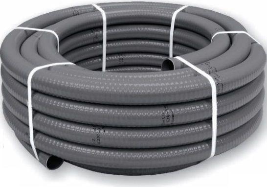 Bzénová PVC Flexi hadice - 50mm externí (43mm interní) - 25m - ES, šedá, 22kg (317744) Hanscraft