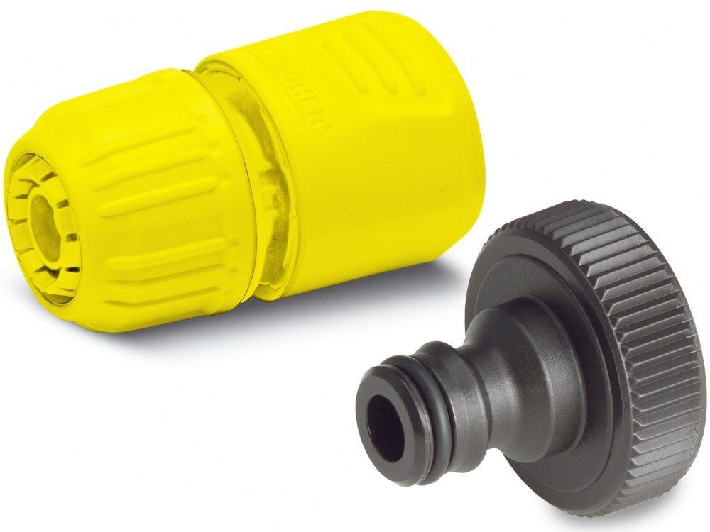 """Čerpadlová připojovací sada Kärcher pro přesné připojení 1/2"""" vodovodních hadic (13 mm) na zahradní čerpadla, domácí automaty na vodu a domácí vodárny (BPE 4000/45, 4200/50, 5000/55 AUTO CONTROL, BPP 3000/42, 4000/48, 4500/50, GP 40, 45, 55, 60 Mul.)"""