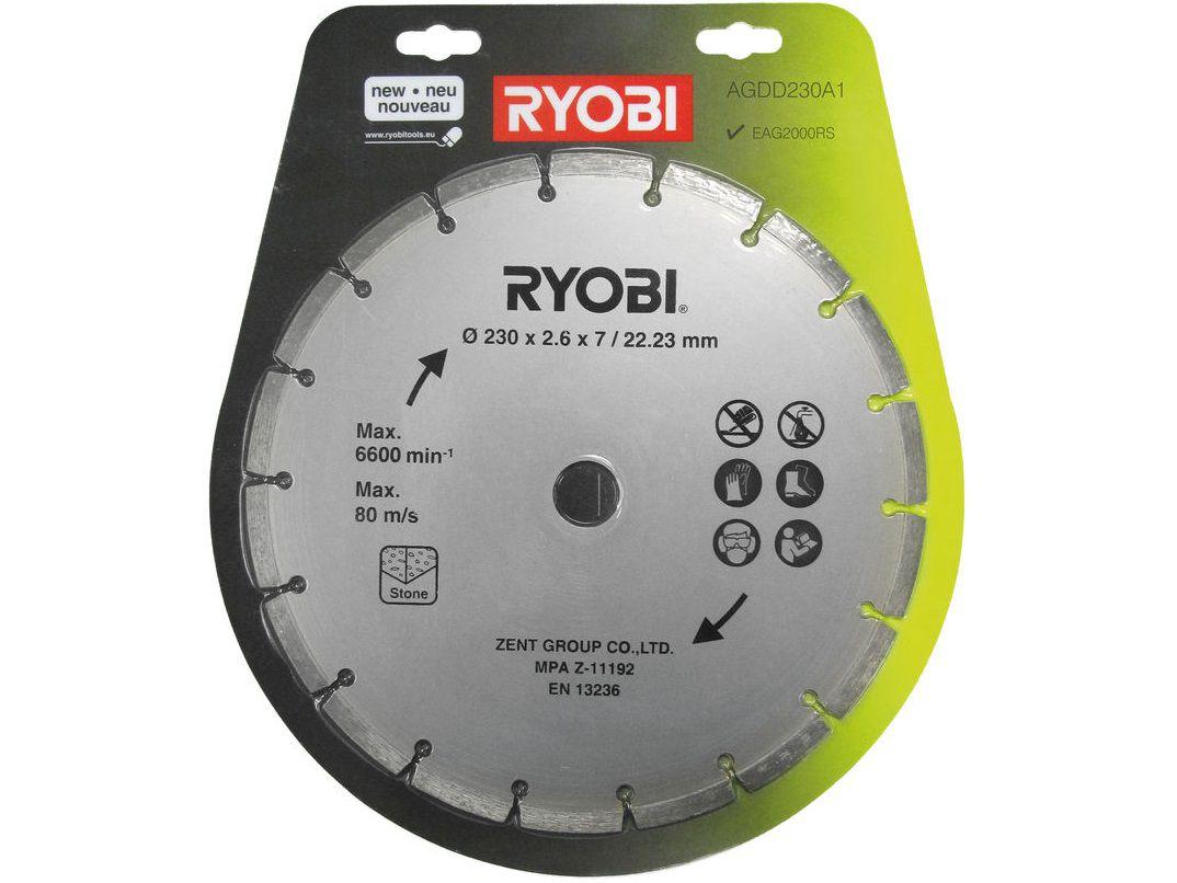 Diamantový řezný kotouč pro pilu Ryobi EAG 2000 RS - pr. 230mm, 0.62kg (Ryobi AGDD 230 A1), kód: 5132002581