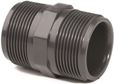 """Dvojitý nipl závit externí 3/4"""" - PT tvarovka šedá, k propojení trubek, 0.25kg (317342) Hanscraft"""