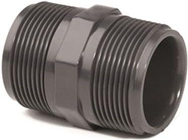 """Dvojitý nipl závit externí 1"""" - PT tvarovka šedá, k propojení trubek, 0.03kg (317343) Hanscraft"""