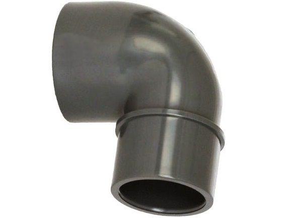 Koleno 90° lepení F/M/F - průměr 50x50x40mm - PT tvarovka šedá, 0.08kg (317632) Hanscraft
