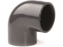 Koleno 90° lepení/lepení - průměr 32mm - PT, černé, 0.041kg