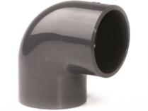 Koleno 90° lepení/lepení - průměr 75mm - PT, černé, 0.45kg