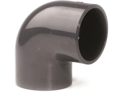 Koleno 90° lepení/lepení - průměr 75mm - PT, ke spojení trubek, černé, 0.45kg (317077) Hanscraft