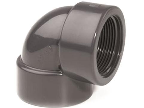 """Koleno 90° lepení/závit interní 40x1 1/4"""", ke spojení trubek, PVC, černé, 10.09kg (317094) Hanscraft"""