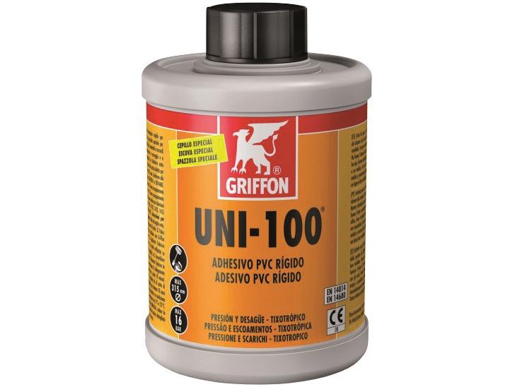 Lepidlo PVC GRIFFON UNI-100 se štětcem - 250ml, ke spojení bazénového trubkového systému, 0.3kg (317013) Hanscraft