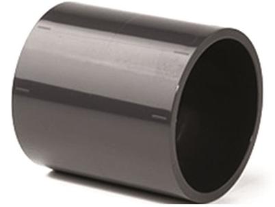 Mufna lepení/lepení - průměr 63mm, PT nátrubek ke spojení dvou trubek, černý, 0.14kg (317226) Hanscraft