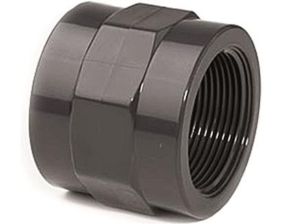 """Mufna lepení/závit interní 50x1 1/2"""", PT nátrubek ke spojení dvou trubek, černý, 0.11kg (317245) Hanscraft"""