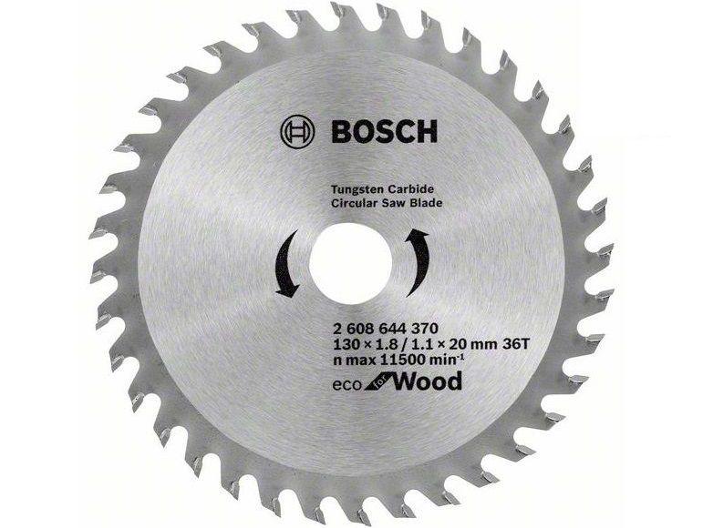 Pilový kotouč na dřevo Bosch Eco for Wood 130x20x1.8mm, 36 zubů (2608644370) Bosch příslušenství