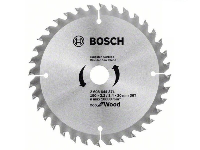 Pilový kotouč na dřevo Bosch Eco for Wood 150x20x2.2mm, 36 zubů (2608644371) Bosch příslušenství