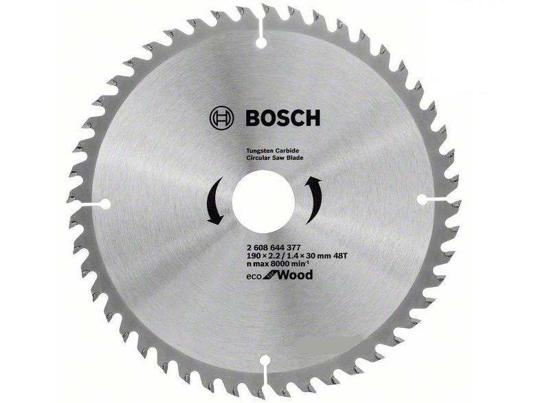 Pilový kotouč na dřevo Bosch Eco for Wood 190x20x2.2mm, 48 zubů (2608644378) Bosch příslušenství