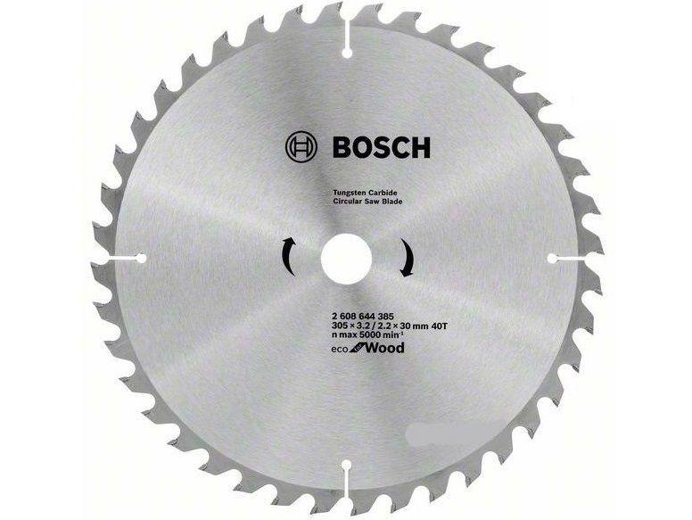 Pilový kotouč na dřevo Bosch Eco for Wood 305x30x3.2mm, 40 zubů (2608644385) Bosch příslušenství
