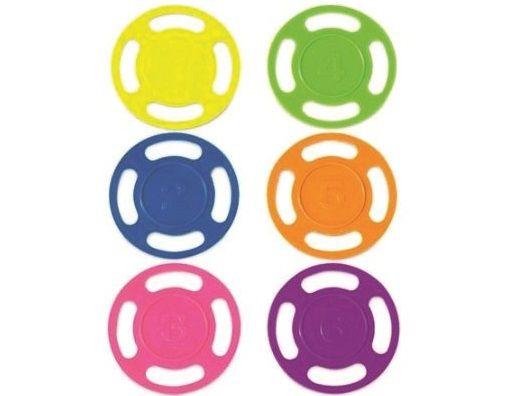Potápěčské disky - sada bazénových hraček, různé barvy, plast, 0.15kg (311402) Hanscraft