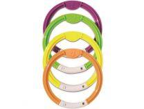 Potápěčské kroužky - sada bazénových hraček, různé barvy, plast, 0.3kg