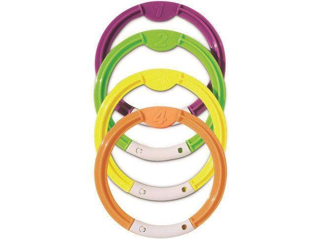 Potápěčské kroužky - sada bazénových hraček, různé barvy, plast, 0.3kg (311401) Hanscraft