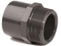 """Přechodový nipl lepení/lepení/závit externí 50-40x1 1/4"""", PT tvarovka šedá, 0.07kg"""