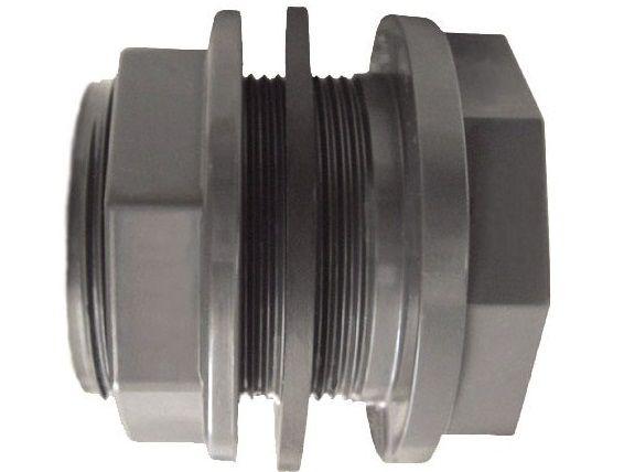"""Průchodka lepení/závit externí 50x2"""" závit externí - CH - PVC tvarovka šedá, 0.02kg (317691) Hanscraft"""
