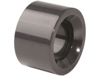 Redukce krátká lepení/lepení 63x50mm, PT, černá, 0.08kg