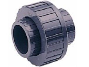 Šroubení 3-dílné lepení/lepení 63mm - PT, k propojení trubek, šedé, 0.41kg (317506) Hanscraft