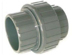 Šroubení 3-dílné lepení/lepení 75mm - PT, k propojení trubek, šedé, 0.4kg (317507) Hanscraft