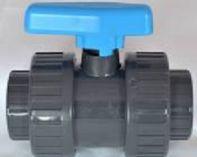 Ventil kulový dvojcestný lepení/lepení 75mm - PT, šedý, 2.5kg