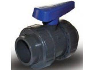 Ventil kulový dvojcestný lepení/lepení 50mm - ITL, k uzavření trubky, šedý, 0.7kg (317774) Hanscraft