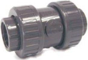VVentil kuželový zpětný lepení/lepení 50mm - pružina - PT, šedý, k propojení trubek, 1.3kg (317785) Hanscraft