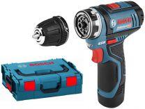 Bosch GSR 12V-15 FC Flex Professional - 2x 12V/2.0Ah, 30Nm, kufr L-Boxx, aku vrtačka bez příklepu