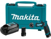 Makita DF012DSE - 2x 7.2V/1.5Ah, 5.6Nm, 2 rychl., 0.53kg, kufr, aku šroubovák