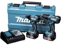 Sada aku nářadí Makita DLX2006M - 18V, DDF459 + DTD129 + 2x aku BL1840 + kufr