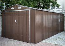 Plechový zahradní domek Tinman TIN802 - hnědý, 299.5x601.2x232cm, 150kg