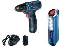 Sada aku nářadí Bosch GSR 120-LI + GLI 12V-300 Professional - 2x 12V/1.5Ah, kufr