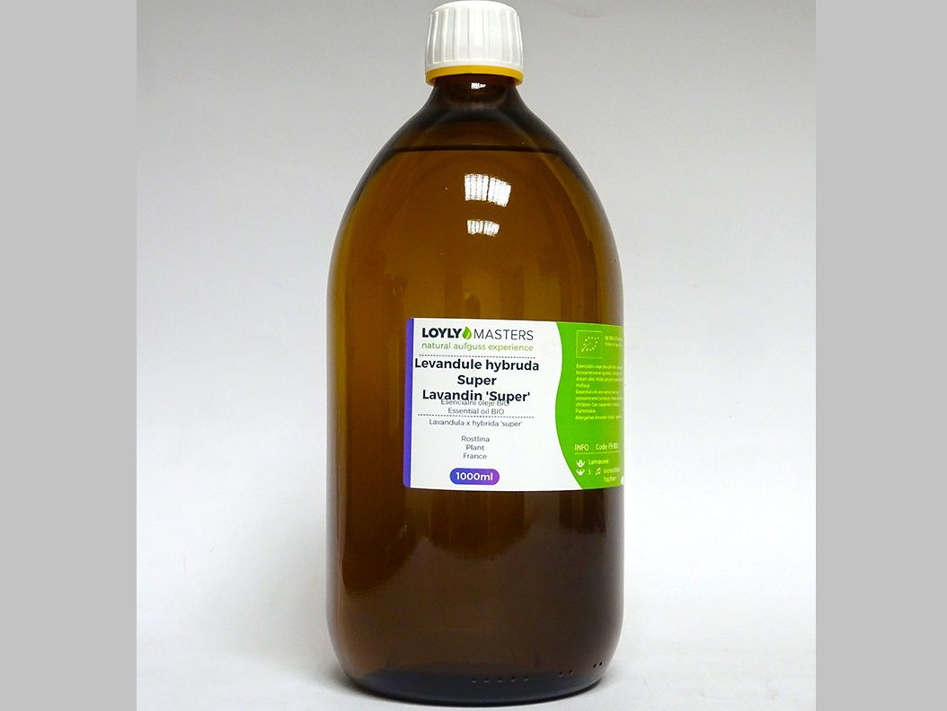 Aroma esence Hanscraft 100% EO LOYLY MASTERS Levandule hybruda - 1L - BIO, 1.369kg (176492)