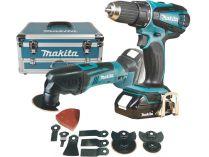 Sada aku nářadí Makita DLX2031YX1 - 18V, DDF456 + TM50 + 2x aku BL1815 + přísl. + hliníkový kufr