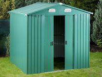 Plechový zahradní domek Tinman TIN303 - zelený, 235.7x194.8x210.8cm, 92kg