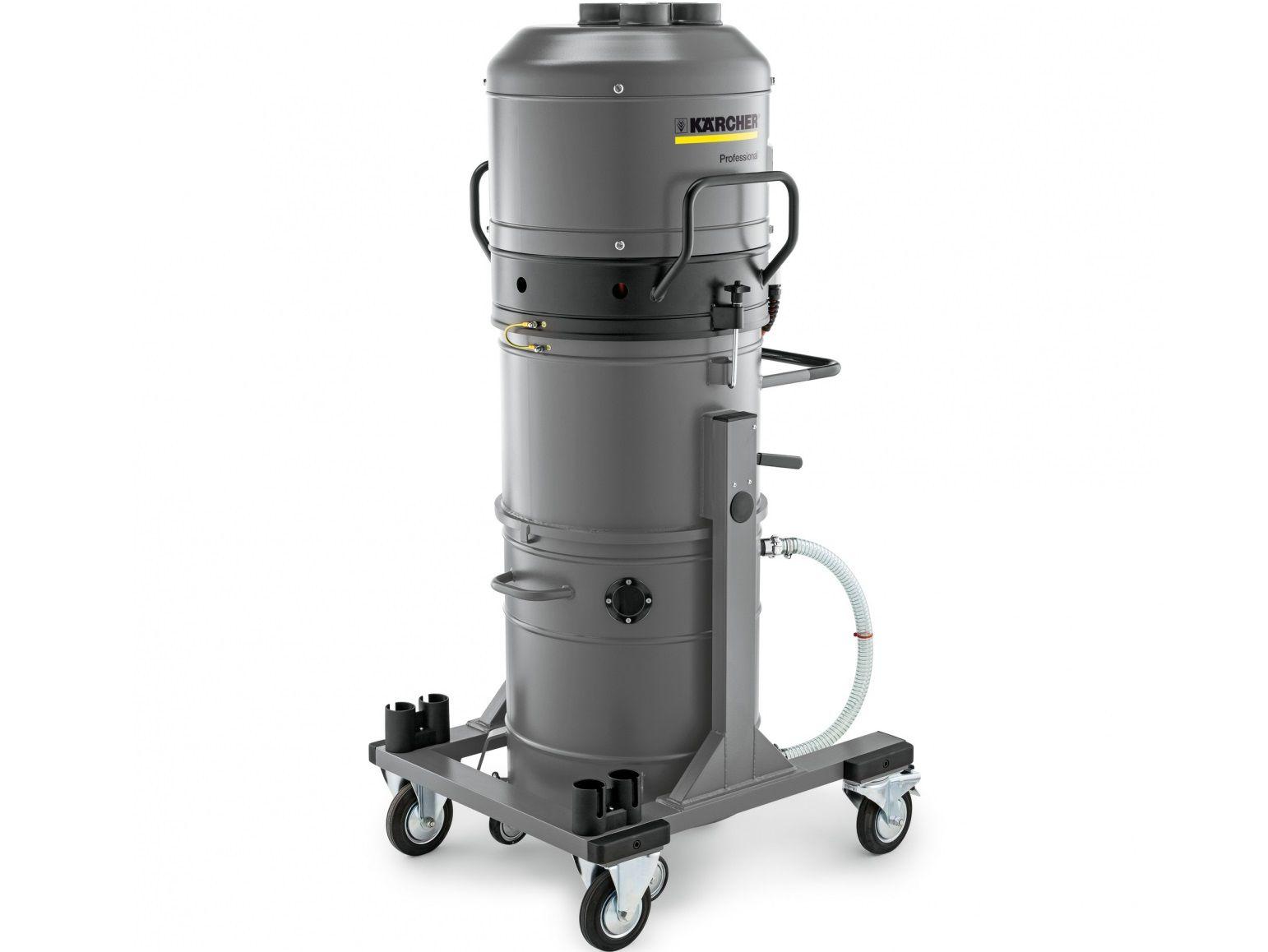 Profi průmyslový vysavač Kärcher IVR-L 100/30 - pro třísměnný provoz ve výrobě, k vysávání tekutin a špon, 3kW, 100L, 136kg, 850x760x1800mm (9.986-064.0)