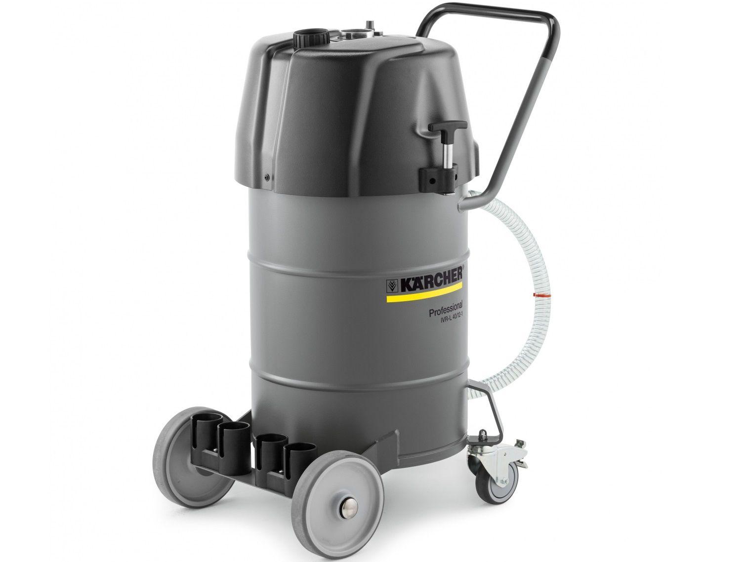Profi průmyslový vysavač KärcherI CIVR-L 40/12-1 - k vysávání tekutin a špon, 1.2kW, 40L, 36kg, 711x523x960mm (9.986-054.0)