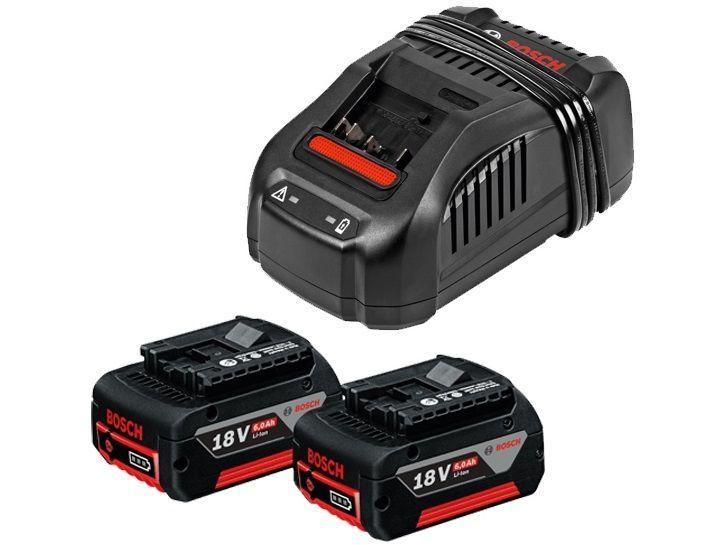 2x Zásuvný akumulátor Bosch GBA 18 V 6,0 Ah + Rychlonabíječka GAL 1880 CV Professional (1600A00B8L) Bosch příslušenství