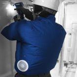 Aku pracovní bunda Makita DFJ304Z2XL, velikost XXL, s ventilátory Li-ion 10,8V/14,4V/18V Z + Adaptér GM00001607 pro akumulátory 14,4V a 18V ZDARMA!