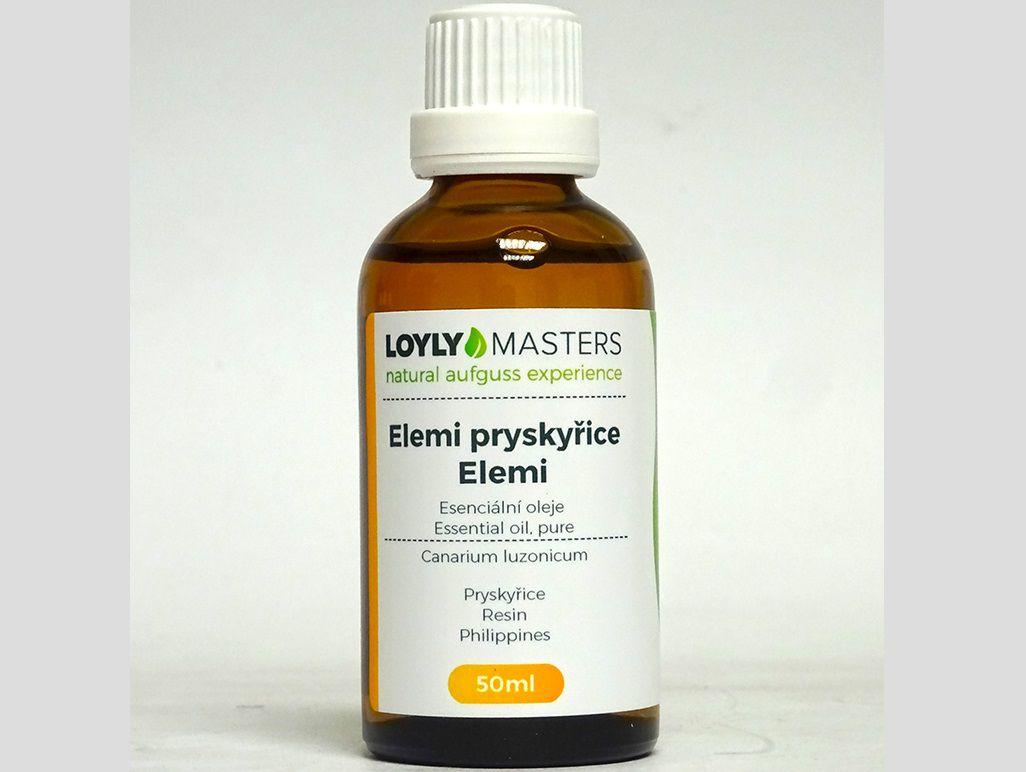 Aroma esence Hanscraft 100% EO LOYLY MASTERS Elemi pryskyřice - 50ml, 0.114kg