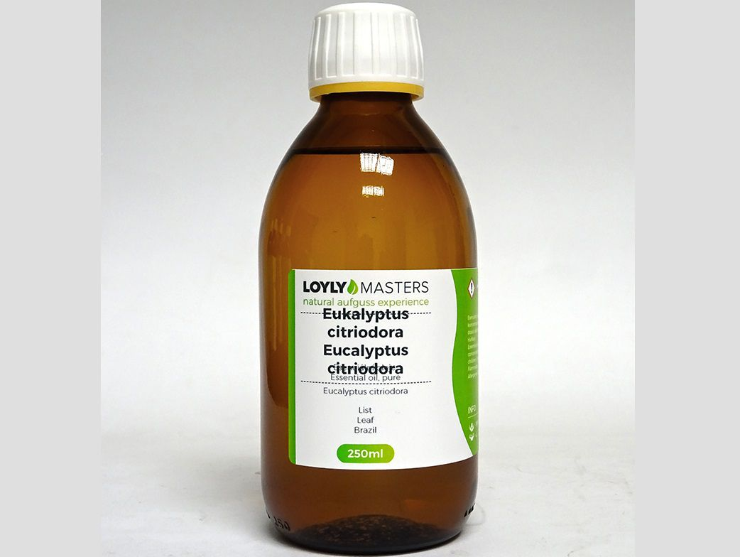 Aroma esence Hanscraft 100% EO LOYLY MASTERS Eukalyptus citriodora - 250ml, 0.38kg (176470)