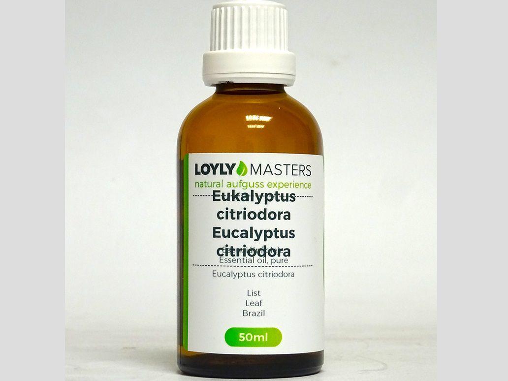 Aroma esence Hanscraft 100% EO LOYLY MASTERS Eukalyptus citriodora - 50ml, 0.114kg (176434)