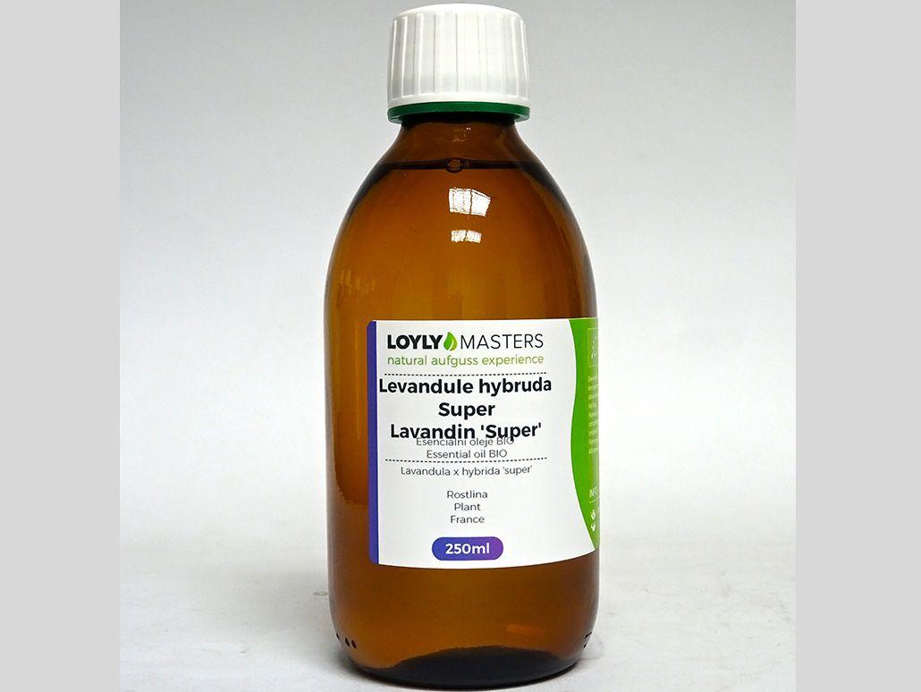 Aroma esence Hanscraft 100% EO LOYLY MASTERS Levandule hybrida - 250ml - BIO, 0.38kg (176486)