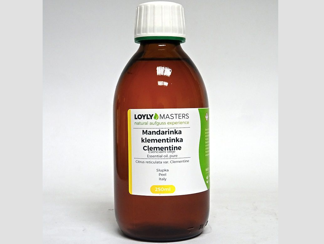 Aroma esence Hanscraft 100% EO LOYLY MASTERS Mandarinka klementinka - 250ml, 0.38kg (176468)