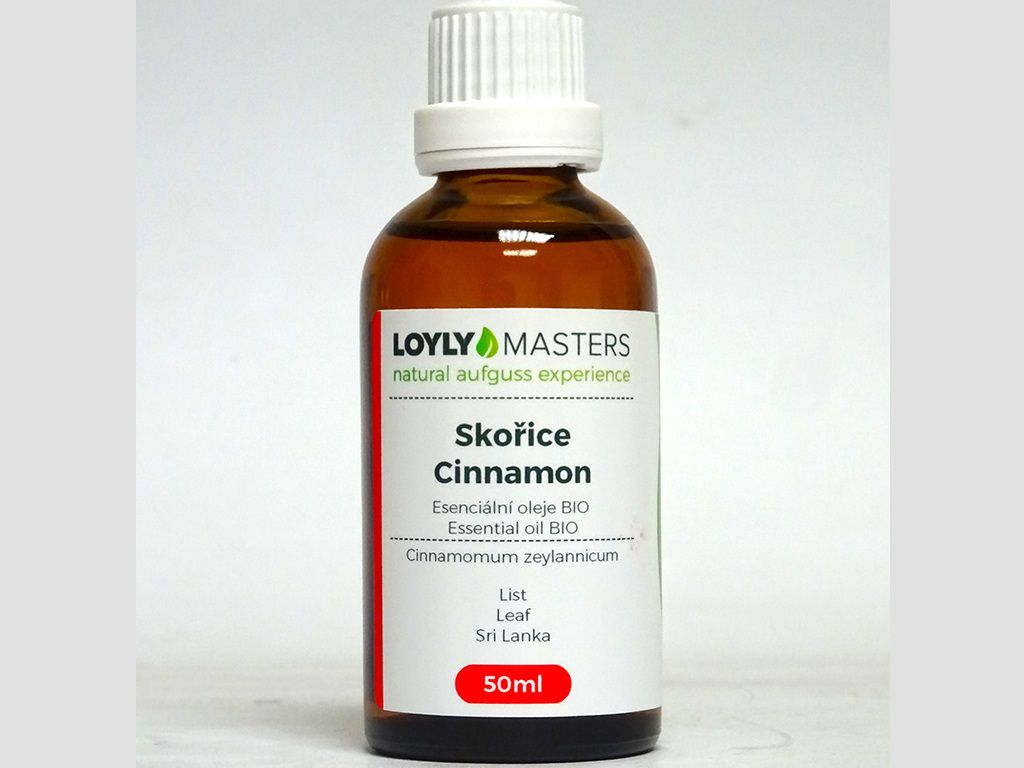 Aroma esence Hanscraft 100% EO LOYLY MASTERS Skořice i - 50ml - BIO, 0.114kg (176485)